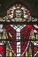Image of Stained glass window of Jesus Christ in the Cathedral Church of Saint Peter.