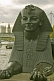 Image of Bronze sphinx next to Cleopatras Needle on Victoria Embankment next to River Thames.