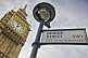 Image of City of Westminster Bridge Street sign outside Big Ben clock tower and Houses of Parliament.