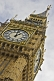 Image of Clock face of the  Big Ben clock tower and Houses of Parliament in City of Westminster.